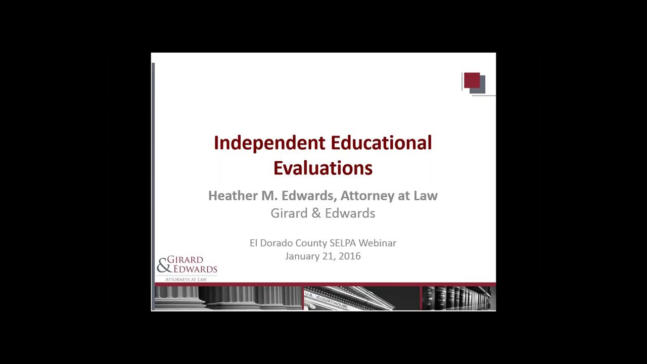 Web Module for Independent Educational Evaluations (IEE)