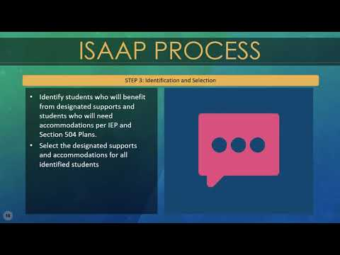 Webmodule for Statewide Assessments: Accessibility Supports & the ISAAP Tool