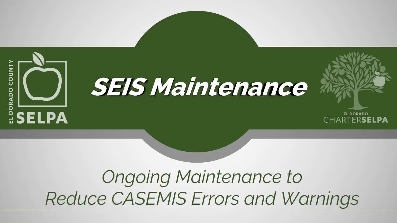 SEIS Maintenance video