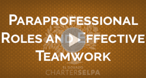 Webmodule for Paraprofessional Roles and Effective Teamwork